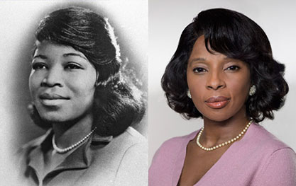 Betty Shabazz and Mary J. Blige side by side